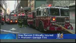 News video: One Person Critically Injured In Midtown Garage Fire