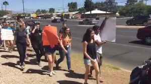 News video: RAW VIDEO: Tucson students protest against gun violence