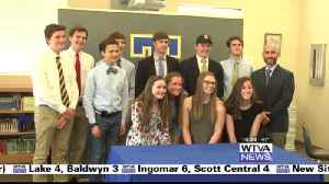 News video: Four from Tupelo swim, XC sign