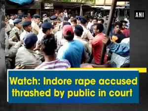 News video: Watch: Indore rape accused thrashed by public in court