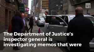 News video: DOJ Opening Investigation On Comey's Alleged Leaks Of Classified Information