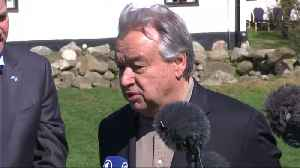 """News video: UN chief says there is """"hope"""" in North Korea negotiations"""