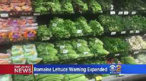 News video: CDC Expands E. coli Warning To All Romaine Lettuce