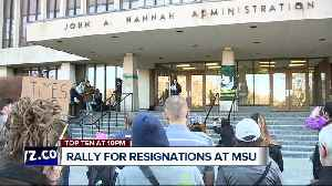 News video: Rally calls for resignations of Engler, Board of Trustees at Michigan State University