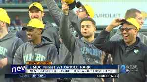 News video: UMBC celebrates first pitch at O's game