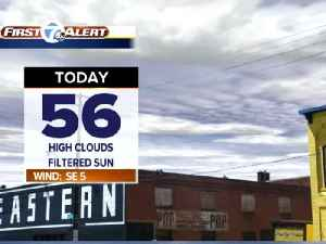 News video: cloudier today, sunnier Sunday
