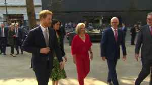 News video: Prince Harry and Meghan Markle attend a reception for the forthcoming Invictus Games