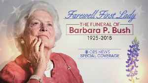 News video: Funeral Of Former First Lady Barbara Bush