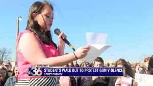 News video: Hundred of students walk out of class to call for action against gun violence