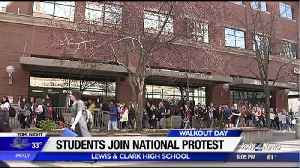 News video: Lewis and Clark students march to city hall