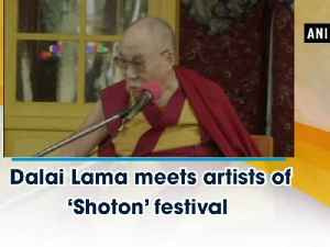 News video: Dalai Lama meets artists of Shoton festival