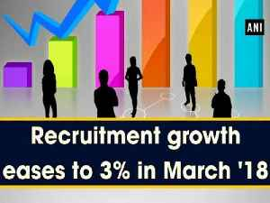 News video: Recruitment growth eases to 3% in March '18