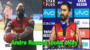 News video: IPL 2018 | Andre Russell looks okay: Karthik