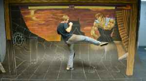News video: AWESOME Street Fighter Chalk Art! - AWE Me Artist Series
