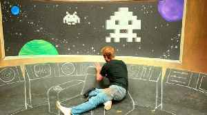 News video: Star Trek Bridge x Space Invaders 3D Chalk Art - AWE me Artist Series