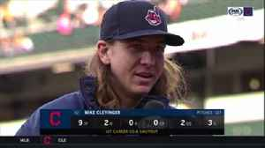 News video: Mike Clevinger rocks lucky jacket after first career complete game shutout