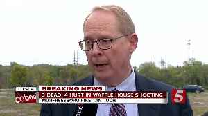 News video: MNPD Officials Give Update To Fatal Waffle House Shooting