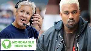 News video: Pete Carroll ROASTS Kanye West And His YEEZY's!   Honorable Mentions