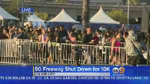News video: 90 Freeway Shut For Runners For First Time Since 1984 LA Olympics