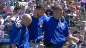 News video: Cubs' Kris Bryant Leaves Game After Being Hit By Pitch
