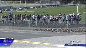 News video: Months after school shooting, Freeman students walkout