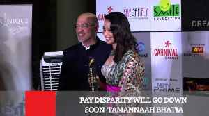 News video: Pay Disparity Will Go Down Soon : Tamannaah Bhatia