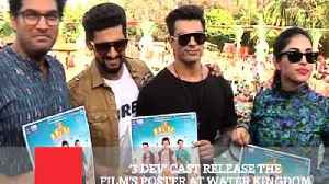 News video: '3 Dev' Cast Release The Film's Poster At Water Kingdom