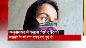 News video: Effort to murder after gangrape with a 13-year-old girl in Haryana