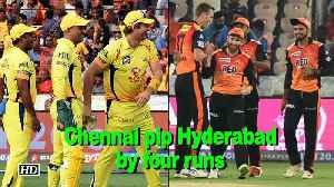 News video: IPL 2018 | Chennai pip Hyderabad by four runs to return to top of IPL table