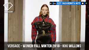 News video: Versace Presents Kiki Willems in Leather for Women Fall/Winter 2018   FashionTV   FTV