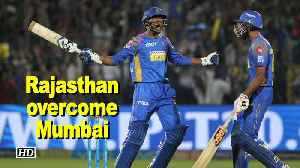News video: IPL 2018 | Rajasthan overcome Mumbai by 3 wickets, jump to 5th spot