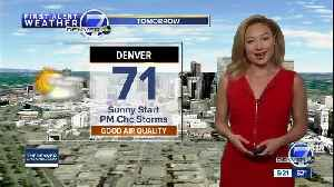 News video: Mild start to the week, with a cool down come Tuesday