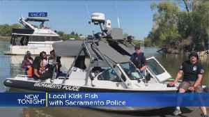 News video: Sacramento Police Take Children Fishing For First Time