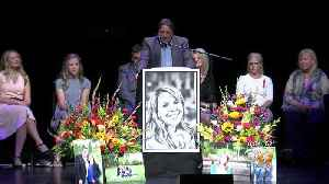 News video: Hundreds Gather To Remember Mother Killed On Southwest Flight