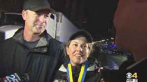 News video: Mary Shertenlieb's Boston Marathon Run Raises $43,000 For Dana-Farber