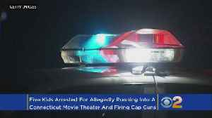 News video: Kids Busted After Cap Gun Movie Theater Stunt Scares Patrons