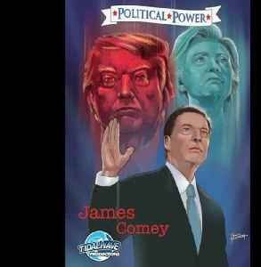 News video: James Comey gets the comic book treatment