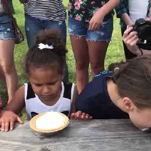 News video: Pie Eating Contestant Grossed Out By The Pie Eating Competition