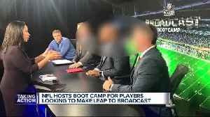 News video: NFL hosts boot camp for players looking to become broadcasters