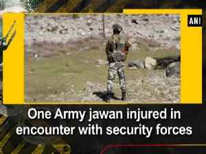 News video: One Army jawan injured in encounter with security forces