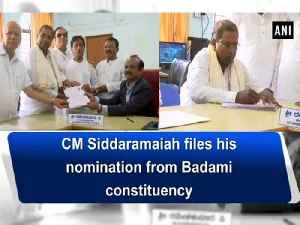 News video: CM Siddaramaiah files his nomination from Badami constituency