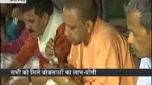 News video: CM Yogi Adityanath eaten meal at a Dalit's house in a village of UP