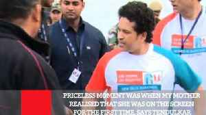 News video: Priceless Moment Was When My Mother Realised That She Was On The Screen For The First Time, Says Tendulkar