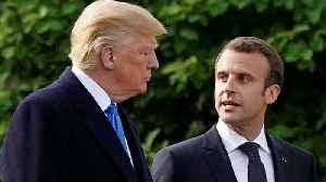 News video: Trump And Macron Discuss Resolving Differences On Iran Deal
