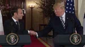 News video: Can Presidents Trump and Macron bridge differences on Iran?