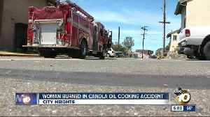 News video: Woman burned in cooking accident