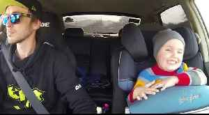 News video: This Dad Takes His 3 Year-Old Son Car Drifting
