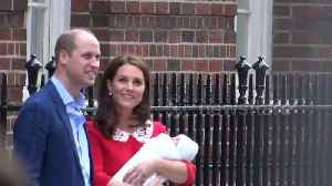 News video: Prince William and Kate Middleton introduce baby to well-wishers outside hospital