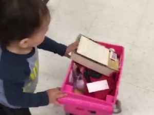 News video: Adorable Little boy Goes Shopping All By Himself