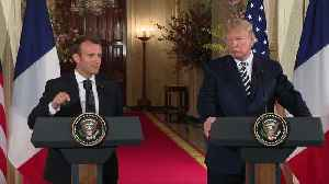 News video: Trump and Macron seek common ground on Syria